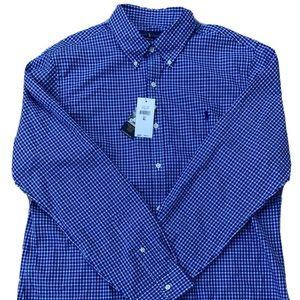 Ralph Lauren Plaid Oxford Shirt Slim Fit XL NWT